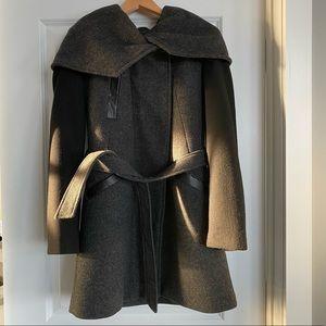 Dress Coat with Cowl Hood